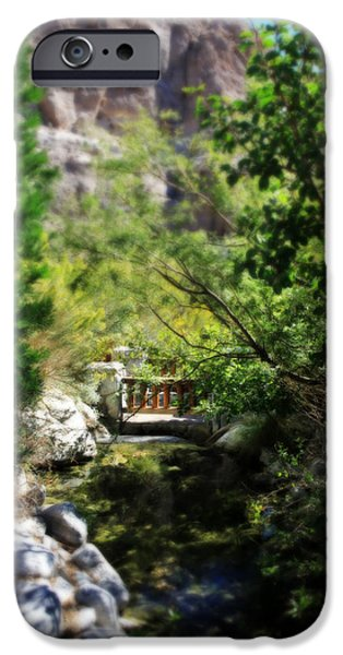 Creek iPhone Cases - A Teeny Tiny Bridge iPhone Case by Laurie Search