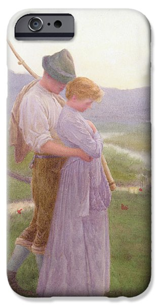 Gore iPhone Cases - A Tender Moment iPhone Case by William Henry Gore
