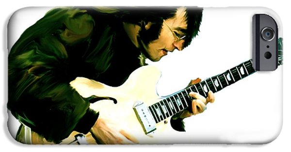 David Drawings iPhone Cases - A Time It Was  John Lennon iPhone Case by Iconic Images Art Gallery David Pucciarelli