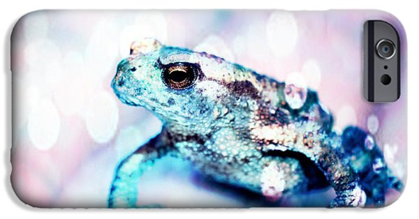 Development Mixed Media iPhone Cases - A tiny frog iPhone Case by Toppart Sweden