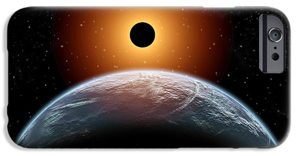 Solar Eclipse Digital iPhone Cases - A Total Eclipse Of The Sun As Seen iPhone Case by Mark Stevenson