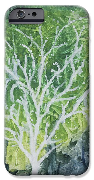 City Scape iPhone Cases - A Tree in the City iPhone Case by Sari Sauls