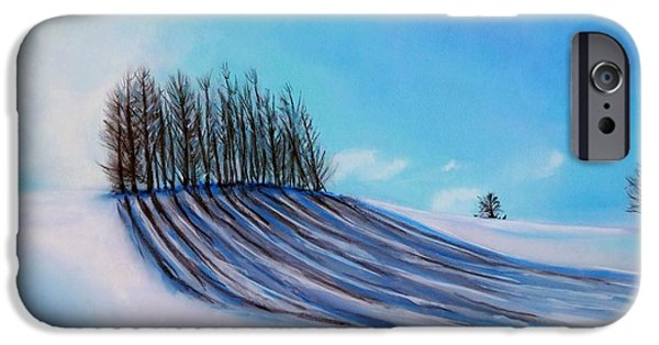Snowy Pastels iPhone Cases - A Trees Reflection iPhone Case by Kevin Hubbard