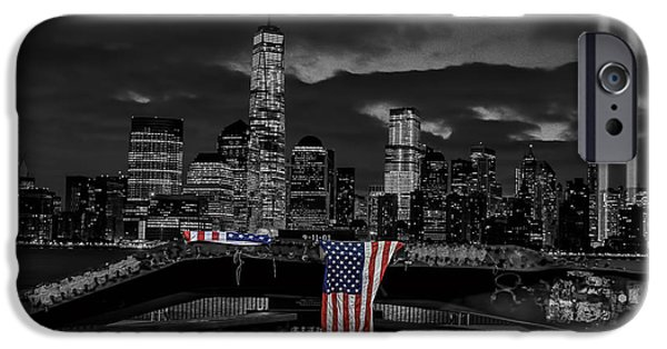Twin Towers Nyc Digital iPhone Cases - A Tribute To 911 iPhone Case by Keith Yates