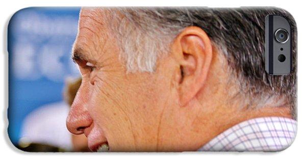 Mitt Romney iPhone Cases - A True Patriot iPhone Case by Janice Rae Pariza