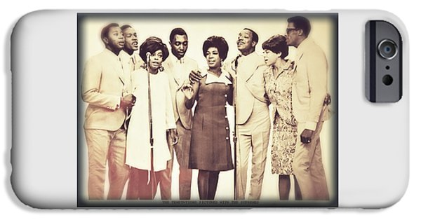 Legendary Music Singers iPhone Cases - Motown Harmony iPhone Case by Kellice Swaggerty