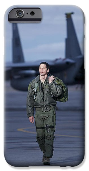 A U.s. Air Force Pilot Walking Away iPhone Case by Terry Moore