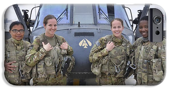 Afghanistan iPhone Cases - A U.s. Army All Female Crew iPhone Case by Stocktrek Images