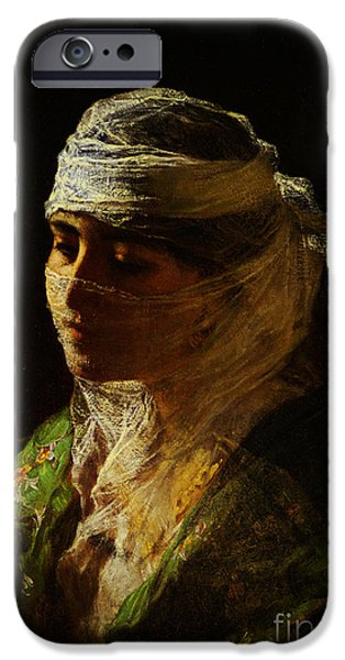 Sahara Sunlight iPhone Cases - A Veiled Beauty of Constantinople iPhone Case by Celestial Images