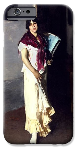 Seductive Photographs iPhone Cases - A Venetian Woman, 1882 Oil On Canvas iPhone Case by John Singer Sargent