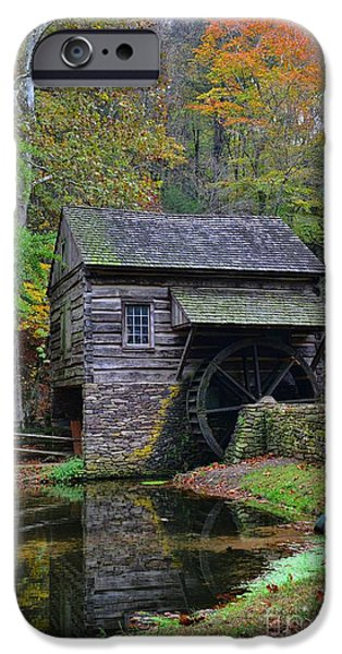 Grist Mill iPhone Cases - A Very Old Grist Mill iPhone Case by Paul Ward