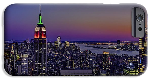 Hudson River iPhone Cases - A View From The Top iPhone Case by Susan Candelario