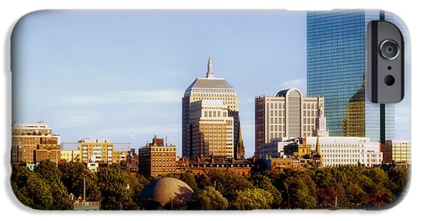Charles River iPhone Cases - A View of Boston from the Charles River iPhone Case by Mountain Dreams