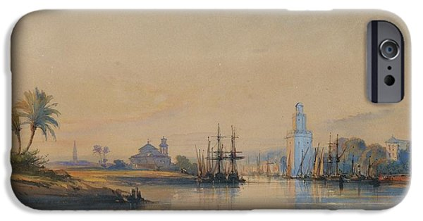 Delacroix iPhone Cases - A View Of Seville iPhone Case by Celestial Images