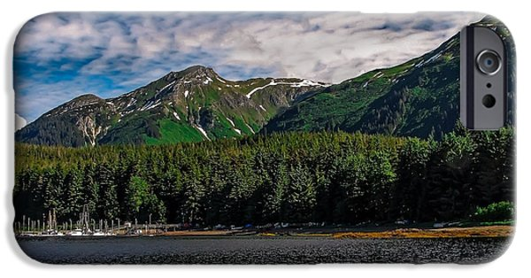 Inside Passage iPhone Cases - A View of Tenakee Springs iPhone Case by Robert Bales