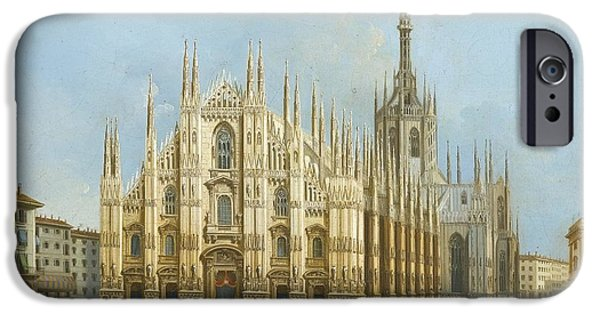 The Duomo iPhone Cases - A View Of The Duomo iPhone Case by Celestial Images