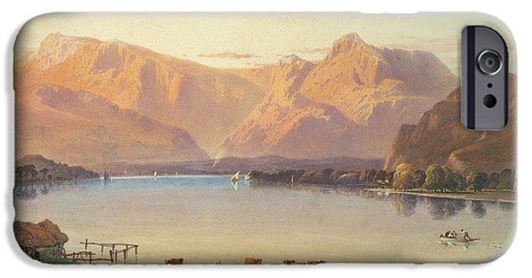 Bathing Paintings iPhone Cases - A View Of Windermere iPhone Case by Aaron Edwin Penley