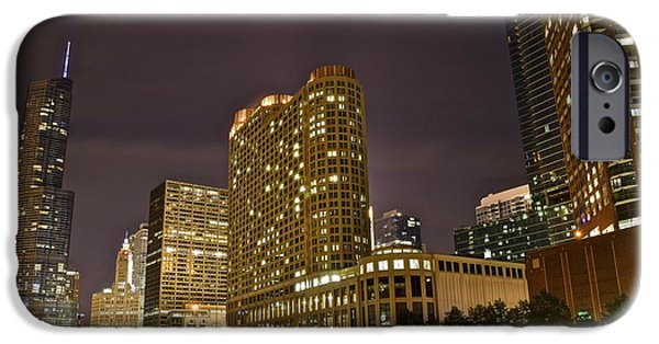 Chicago Cubs iPhone Cases - A View over the Chicago River iPhone Case by Frozen in Time Fine Art Photography