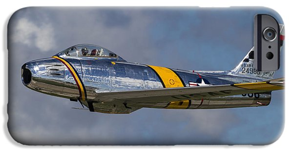 North American Aviation iPhone Cases - A Vintage F-86 Sabre Of The Warbird iPhone Case by Rob Edgcumbe