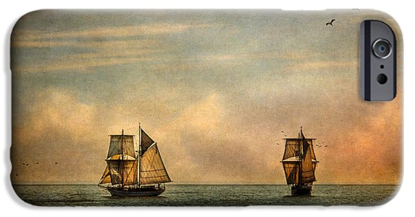 Tall Ship iPhone Cases - A Vision I Dream iPhone Case by Dale Kincaid