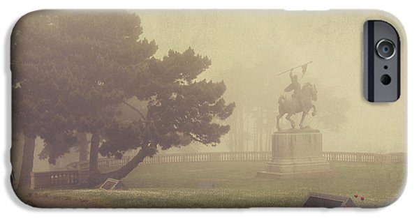 Fog Mist iPhone Cases - A Walk in the Fog iPhone Case by Laurie Search