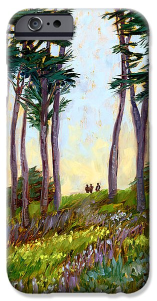 Tall Trees iPhone Cases - A Walk in the Park iPhone Case by Alice Leggett