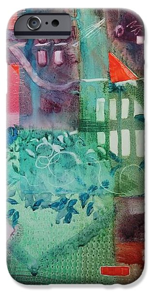 A Spring Walk in the Park   iPhone Case by Elizabeth Carr