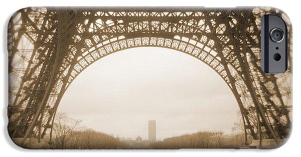 Paris Digital Art iPhone Cases - A Walk Through Paris 14 iPhone Case by Mike McGlothlen