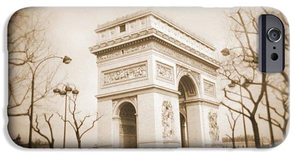 """square "" Digital iPhone Cases - A Walk Through Paris 2 iPhone Case by Mike McGlothlen"