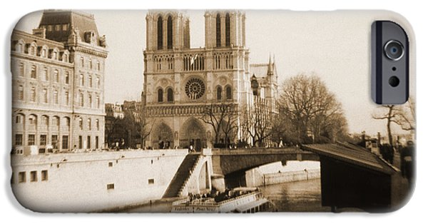 Universities Digital iPhone Cases - A Walk Through Paris 22 iPhone Case by Mike McGlothlen