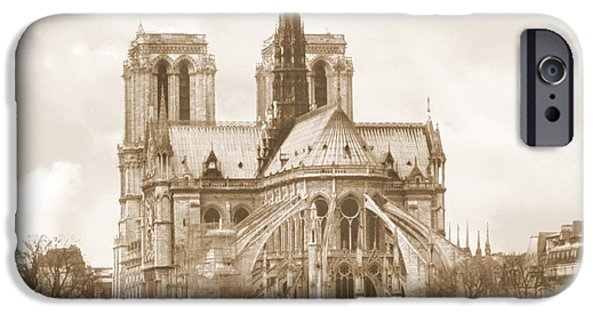 Notre Dame Cathedral iPhone Cases - A Walk Through Paris 25 iPhone Case by Mike McGlothlen
