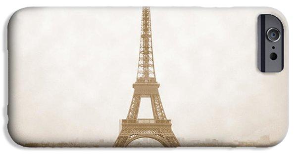 White Dress iPhone Cases - A Walk Through Paris 5 iPhone Case by Mike McGlothlen