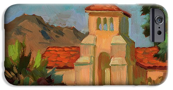 Dark Sky iPhone Cases - A Warm Day at Borrego Springs Lutheran iPhone Case by Diane McClary