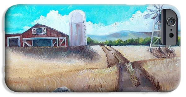 Maine Farms Paintings iPhone Cases - A Warm Welcome iPhone Case by Shana Rowe