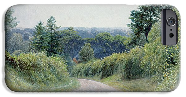 Wood Photographs iPhone Cases - A Warwickshire Lane iPhone Case by Thomas Clack