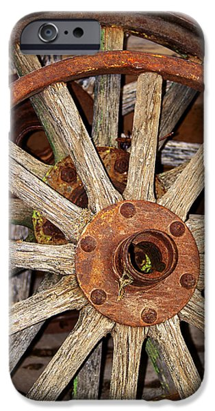 A Wheel In A Wheel iPhone Case by Phyllis Denton