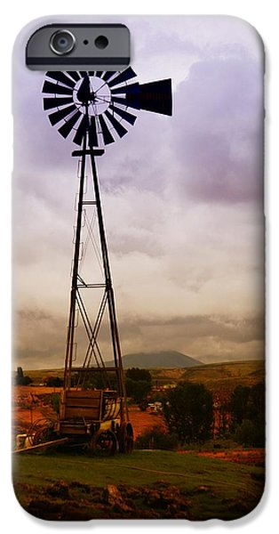 A WINDMILL AND WAGON  iPhone Case by Jeff  Swan