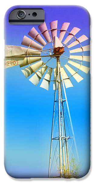 Turquois Water iPhone Cases - Famagusta Windmill iPhone Case by Augusta Stylianou
