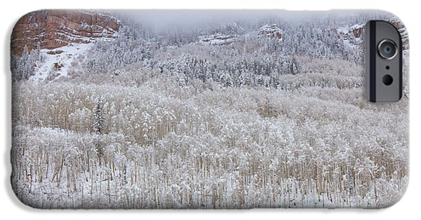 Winter Scene iPhone Cases - A Winter Cabin iPhone Case by Darren  White