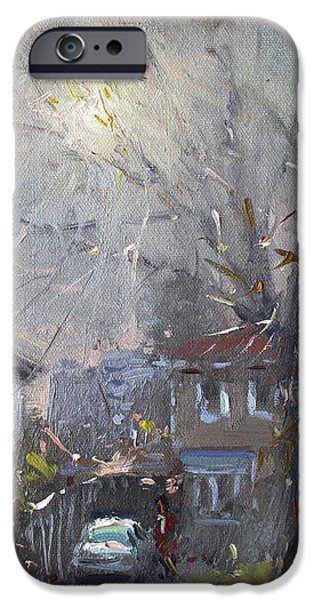 House iPhone Cases - A Hazy Winter Day iPhone Case by Ylli Haruni
