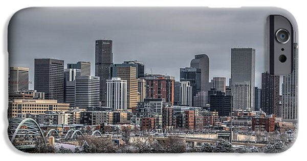 Speer iPhone Cases - A Winter in Denver iPhone Case by Ryan Harter