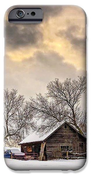 A Winter Sky iPhone Case by Steve Harrington