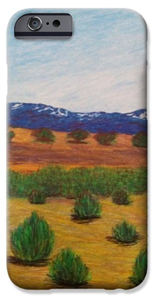 Snow-covered Landscape Drawings iPhone Cases - A Winter Story  iPhone Case by Christine Degyansky