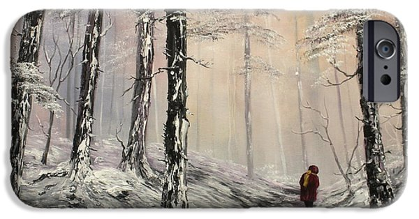 Cemetary iPhone Cases - A Winter Walk iPhone Case by Jean Walker