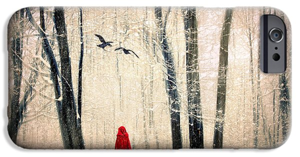 Alone Digital iPhone Cases - A Winters Tale iPhone Case by Jessica Jenney