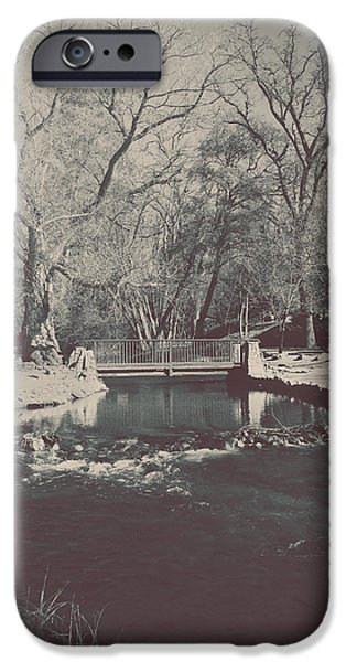Creek iPhone Cases - A Winters Tale iPhone Case by Laurie Search
