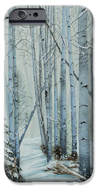 Snowy Mixed Media iPhone Cases - A Winters Tale iPhone Case by Stanza Widen