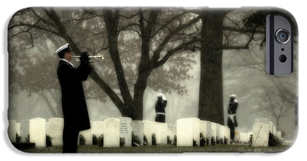 Headstones iPhone Cases - A Wintry Final Call iPhone Case by Mountain Dreams