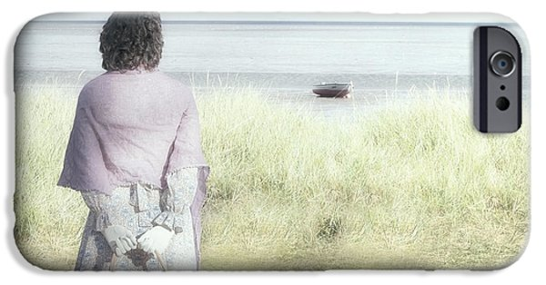 Beach Landscape iPhone Cases - A Woman And The Sea iPhone Case by Joana Kruse