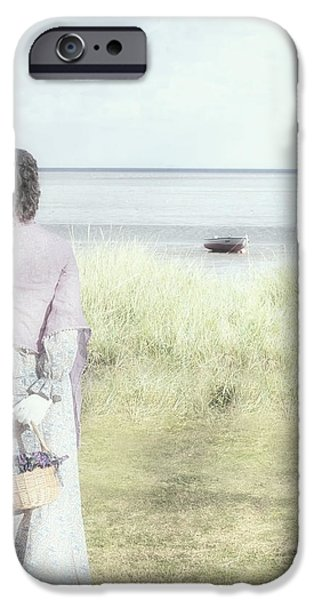 a woman and the sea iPhone Case by Joana Kruse